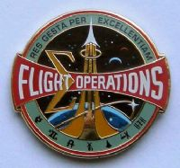 NASA Flight Operations Lapel Pin